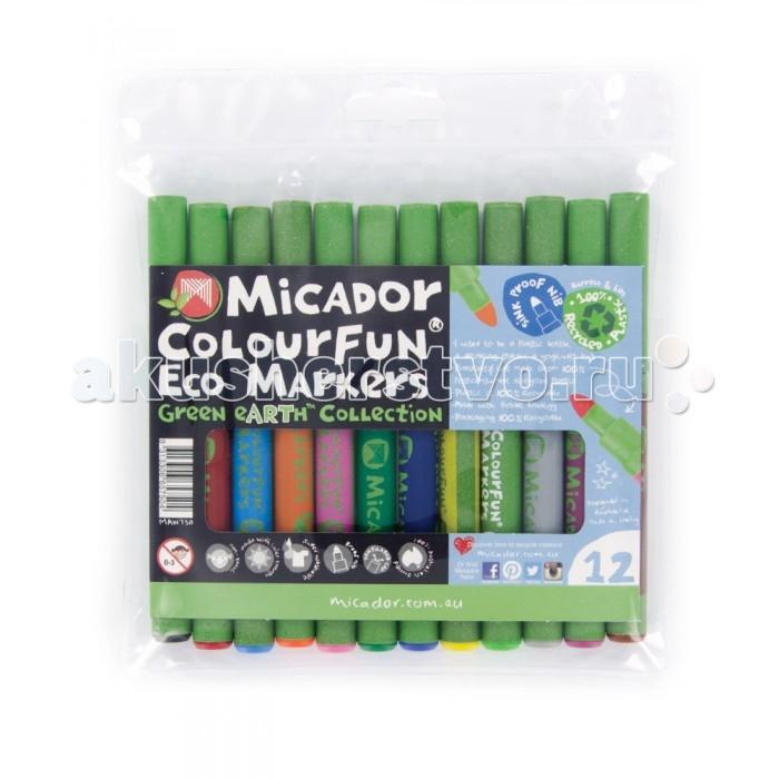 Фломастеры Micador Яркие эко 12 шт.