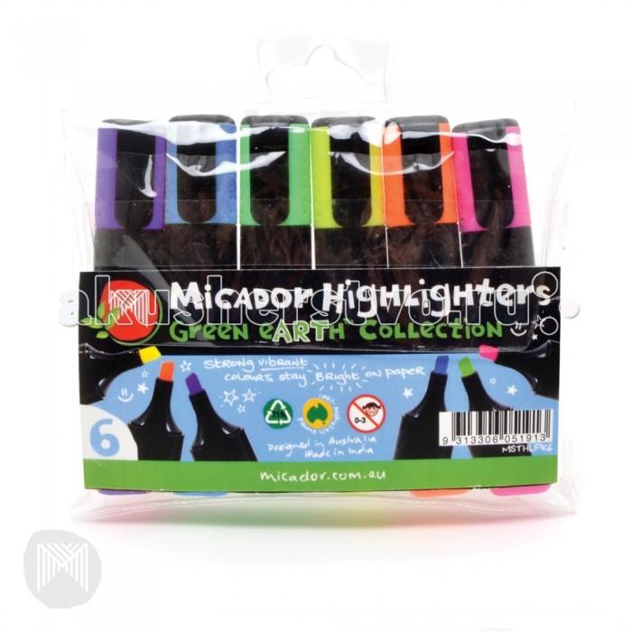 Фломастеры Micador Яркие маркеры с широким стержнем 6 шт.