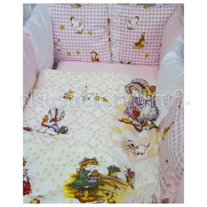 Комплект для кроватки ByTwinz Амми (6 предметов) с бортиками-подушками