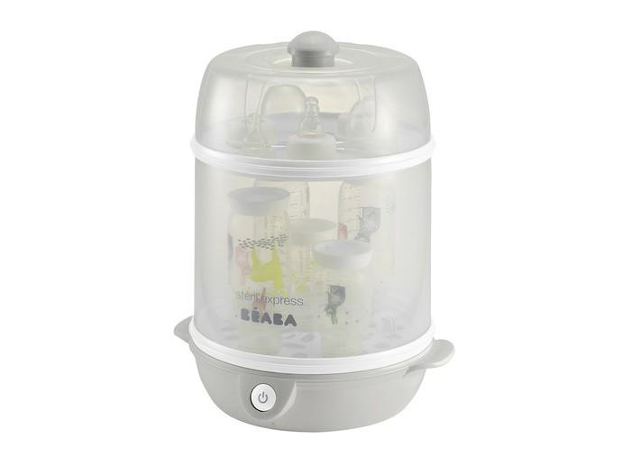 Beaba Стерилизатор электрический SterilExpress 2 в 1Стерилизатор электрический SterilExpress 2 в 1Стерилизатор электрический SterilExpress 2 в 1  Идеально подойдет для стерилизации детских бутылочек и принадлежностей для кормления. Удобно в путешествиях и на отдыхе. Beaba - ведущая торговая марка, в основу деятельности которой входит производство продукции для детского питания. Beaba воплощает оригинальные идеи для повседневной жизни родителей и малыша. Прием пищи, гигиена, прогулки, сон - на все есть решение от Beaba!  Характеристики: предназначен для стерилизации детских бутылочек и принадлежностей для кормления обеспечивает быструю стерилизацию за 6 минут рассчитан на 9 стандартных или 6 широких бутылочек термочувствительная ручка на крышке изменяет цвет, если крышка горячая прост в использовании легко моется и занимает мало места на кухне  Материалы: пластик нагревательный элемент - нержавеющая сталь  В комплекте: мерный стаканчик со шкалой, съемный шнур для удобства хранения, щипцы для бутылочек  Общие размеры: дхшхв 29х25х36,4 см Вес: 2,2 кг<br>