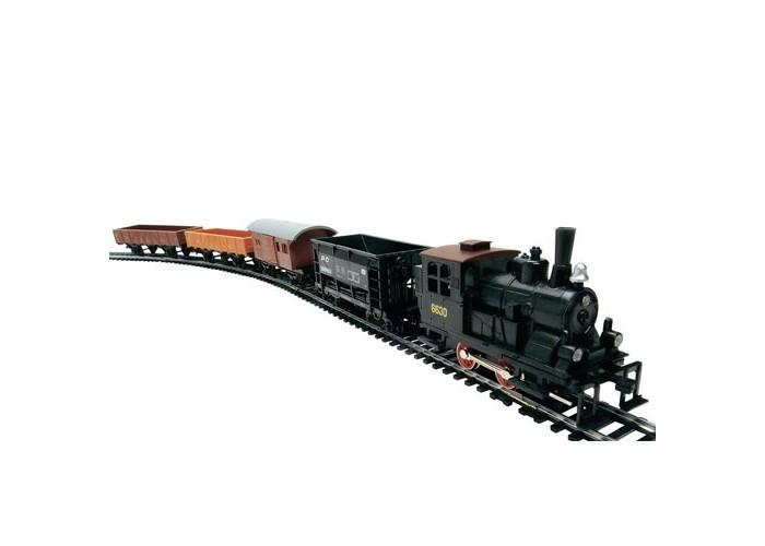 Mehano Western Train с ландшафтомWestern Train с ландшафтомЖелезная дорога «MEHANO» Western train - это 3,35 метра железнодорожного полотна. Во время пути поезд минует городские улицы с жилыми и хозяйственными постройками, пригород с зарослями кактуса, глубокий тоннель через высокий горный массив.   За паровозом и вагонами следят лошади, запряженные в конные экипажи, и наверное, из каждого окна следит за проезжающим составом невидимая пара глаз...   Ландшафт, который интересно будет собирать, готовясь к великому путешествию, воссоздаст картину, много раз проигранную в фильмах о Диком Западе.   Характеристики железной дороги «MEHANO» Western train:   • масштаб 1:87;  • работает от электрической сети через адаптер – 220 вольт;  • возможность изменения скорости движения;  • размер собранного железнодорожного полотна: 117,5 x 95,5 см;  • размер ландшафта в сборе: 125 х 100 см;  • ширина колеи: 16,5 мм;  • размер упаковки: 82 x 57 x 10 см. Все элементы комплекта совместимы с другими сборными моделями железной дороги «MEHANO», таким образом юный машинист запросто сможет возводить новые станции, прокладывать совершенно новые маршруты, которых нет ни на одной карте, воссоздавать небывалые ландшафты, уникальные и никем не виданные ранее.   В комплекте:  • 1 локомотив, 4 вагона;  • 3,35 метра железнодорожного полотна  • рельефный ландшафт с тоннелем, домами и постройками, растениями;  • сетевой адаптер;  • пульт-контроллер;  • подробная инструкциями по сборке и управлению (с иллюстрациями).    Прочные металлические колеса, устойчивые рельсы, великолепная точность в деталях - все это так же характеризует железную дорогу «MEHANO».<br>