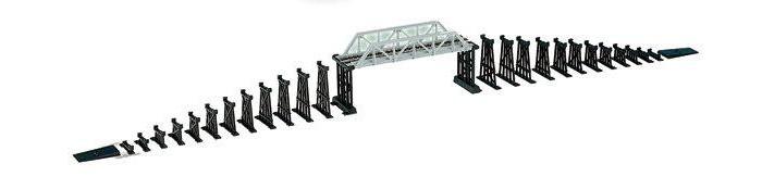 Mehano Мост МеханоМост МеханоМост Механо изготовлен из качественного пластика и металла в типоразмере HO (масштаб 1:87) для железной дороги с шириной колеи 16,5 мм. Размер: 29 х 19 х 5 см.  Рельсы в комплект не входят. Подойдет под рельсы любого производителя в формате HO или масштабе 1/87 (FLEISCHMANN, Mehano, PIKO, Roco и т.д.)<br>