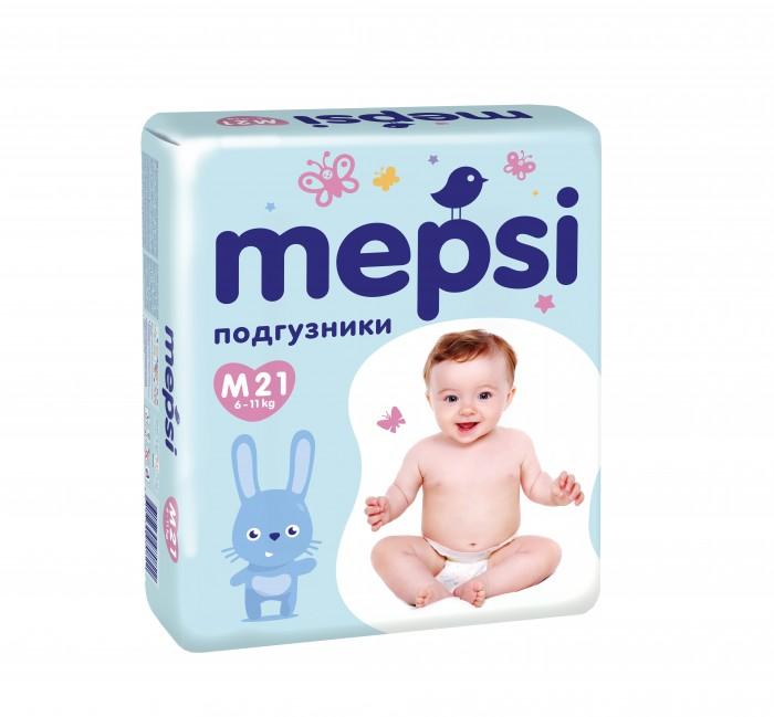 Mepsi Детские одноразовые подгузники размер M 6-11 кг 21 шт.