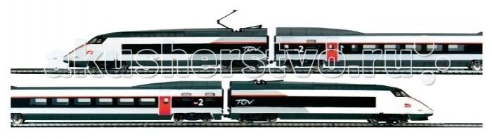 Mehano TGV Tricourant SNCFTGV Tricourant SNCFЖелезная дорога «MEHANO» TGV TRICOURANT - это замечательная модель изящного французского скоростного электропоезда. Благодаря обтекаемым формам, состав с первого взгляда производит впечатление легкой одушевленной стрелы, летящей вперед, с удивительной стремительностью преодолевая 3 м 35  смовального полотна.   Можно придумать и обыгрывать удивительную историю этого поезда, его пассажиров, мест, где они побывали и куда напрявляются, с каждой игрой воображая все новые, даже самые неожиданные подробности и повороты событий.   Характеристики железной дороги «MEHANO» TGV TRICOURANT:  • масштаб 1:87;  • работает от электрической сети через адаптер – 220 вольт;  • возможность изменения скорости движения; • размер собранного железнодорожного полотна: 117,5 x 95,5 см;  • ширина колеи: 16,5 мм;  • размер упаковки: 64  смх 38,5  смх 5 см.   Все элементы комплекта совместимы с другими сборными моделями железной дороги «MEHANO», таким образом юный машинист запросто сможет возводить новые станции, прокладывать совершенно новые маршруты, которых нет ни на одной карте, воссоздавать небывалые ландшафты, уникальные и никем не виданные ранее.   В комплекте:  • 2 локомотива, 2 вагона;  • 3,35 метра железнодорожного полотна: 12 радиальных рельс, 2 прямых;  • сетевой адаптер;  • пульт-контроллер;  • подробная инструкциями по сборке и управлению (с иллюстрациями).   Высокое качество продукции «MEHANO» нисколько не уступает качеству компании «PIKO» с ее моделями железной дороги, которые вы можете купить в нашем интернет-магазине. Прочные металлические колеса, устойчивые рельсы, великолепная точность в деталях - все это так же характеризует железную дорогу «MEHANO».<br>