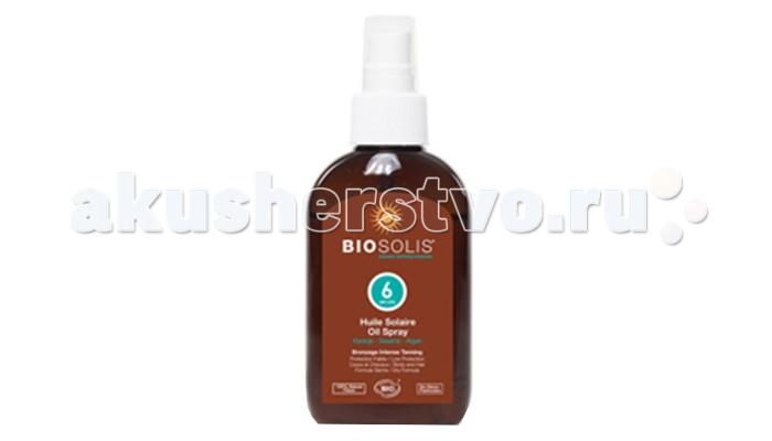 Biosolis Солнцезащитное масло для лица и тела SPF 6 125 млСолнцезащитное масло для лица и тела SPF 6 125 млСолнцезащитное масло для лица и тела SPF 6 125 мл имеет низкий фактор защиты. Подходит для смуглой или уже загоревшей кожи.   Средство содержит только натуральные минеральные солнцезащитные фильтры (без наночастиц). Эти фильтры полностью отражают ультрафиолетовые излучение A и B спектра и гарантируют высокую и надежную защиту. Для питания и увлажнения кожи молочко максимально обогащено органическим гелем алоэ-вера.   Средство очень водостойкое, эффективное и максимально бережное к коже.  Рекомендовано для чувствительной детской и взрослой кожи.  Подходит для лица и тела.  Солнцезащитная линия Biosolis сертифицирована Ecosert Greenllife. Вся линейка Biosolis гарантирует соответствие европейским стандартам по защите от солнца.<br>