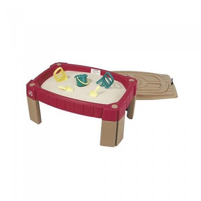 Step 2 Стол для игры с пескомСтол для игры с пескомПриподнятая песочница помогает детям оставаться чистыми. Защитная крышка с эластичными застежками сохраняет песок сухим и чистым.  На крышке находиться игрушечная дорога для игр с машинками   В комплект поставки входят: 2 совка, 1 горшок, и 2 граблей.  Вмещает около 17кг. песка  Для сборки требуется минимальная помощь взрослых.  Вес (кг)- 7.6 кг  Габариты (см)  высота- 42 см  длина- 92 см  ширина- 66 см<br>