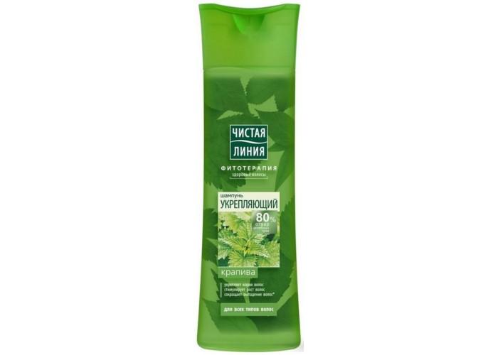 Чистая линия Шампунь для всех типов волос укрепляющий на отваре целебных трав Крапива 400 мл