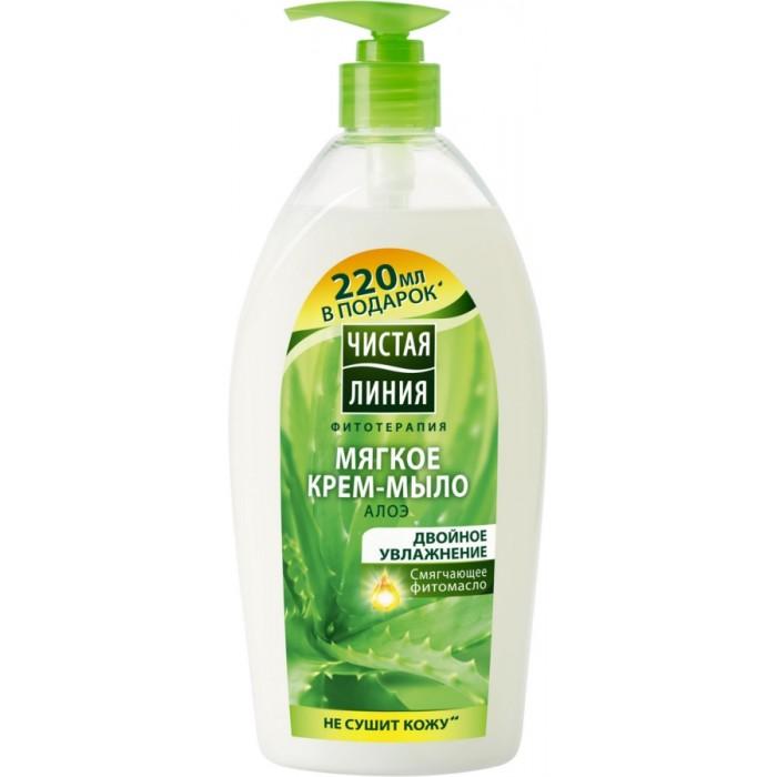 Чистая линия Крем-мыло Двойное увлажнение 250 млКрем-мыло Двойное увлажнение 250 млКрем-мыло Двойное увлажнение 250 мл  Природные компоненты: Сок алоэ и смягчающее фитомасло  Действие: Защищает кожу от потери влаги во время очищения  Обеспечивает интенсивное увлажнение кожи, делая ее мягкой и гладкой<br>