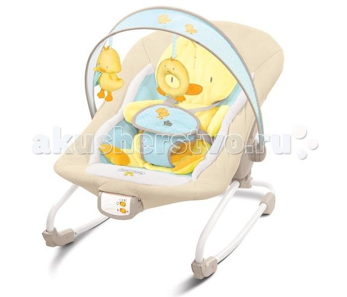 Bright Starts Кресло-качалка УтёнокКресло-качалка УтёнокКресло - качалка Bright Starts Утёнок имеет мягкую съемную подушку для сидения в виде утенка, которая нежно поддерживает спинку ребенка, 3-х позиционное сиденье с технологией Comfort Recline. Кресло-качалка предназначена для малышей весом до 9 кг.  Особенности: Успокаивающая вибрация, 7 мелодий, регулировка громкости и автоматическое отключение  Съемная перекладина для игрушек может поворачиваться для быстрого доступа к ребенку  Легко складывается для хранения и путешествий 5-точечный ремень безопасности  Возможность машинной стирки сиденья  Может фиксироваться в устойчивом положении<br>