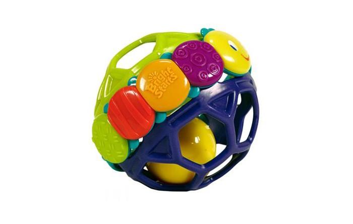 Развивающая игрушка Bright Starts Гибкий шарикГибкий шарикРазвивающая игрушка Bright Starts Гибкий шарик сможет развивать хватательные рефлексы и катать шарик по полу. Модель изготовлена из гибкого, мягкого, а главное, экологически чистого пластика, который позволит Вашему малышу сжимать и сгибать шарик. Гусеница, с различными цветными текстурами, прекрасно разовьет у малыша мелкую моторику. В шарике имеются маленькие колокольчики, которые делают из него погремушку. Во время катания или тряски, игрушка издает веселые звуки.  Благодаря очень компактным размерам, модель можно взять с собой в поездку, в путешествие, в гости и т.д. Цветной и яркий дизайн шарика привлечет внимание Вашей крохи. Развивающая игрушка Гибкий шар - это великолепный помощник в развитии ребенка и поддержании хорошего настроения.<br>