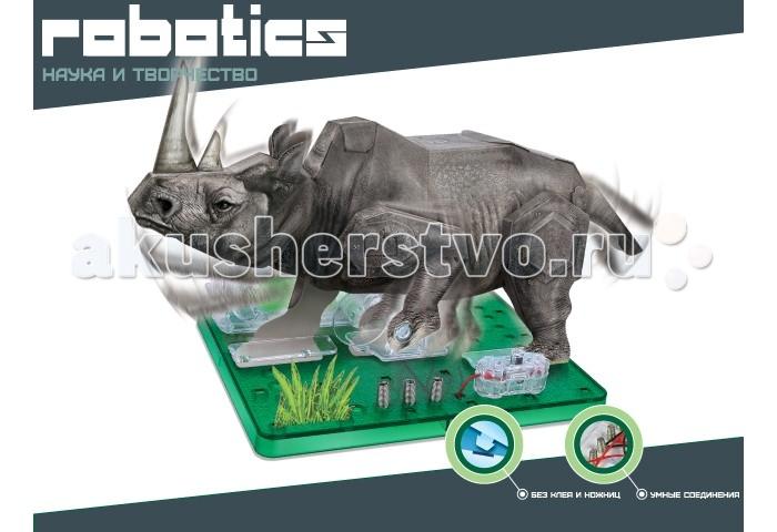 Amazing Научный опыт Носорог на батарейкахНаучный опыт Носорог на батарейкахAmazing Научный опыт Носорог на солнечной энергии  Давно известно что игры с конструктором развивают фантазию и воображение ребенка, учат его усидчивости и внимательности. Объёмный 3D-конструктор Amazing Toys Носорог позволит собрать модель мощного и сильного носорога из самого обычного картона. При этом Вам совершенно не понадобятся клей и ножницы. А благодаря имеющимся в комплекте электронным компонентам бумажная модель «оживет» и начнет двигаться словно живая.   В набор входят:  4 бумажных листа для создания сгибающихся деталей 1 пластиковая платформа 1 отсек для батареек 1 переключатель 1 коробка передач 3 пружины 1 пластиковая деталь инструкция.   Понадобятся лишь 2 ААА батарейки (в комплект не входят)<br>
