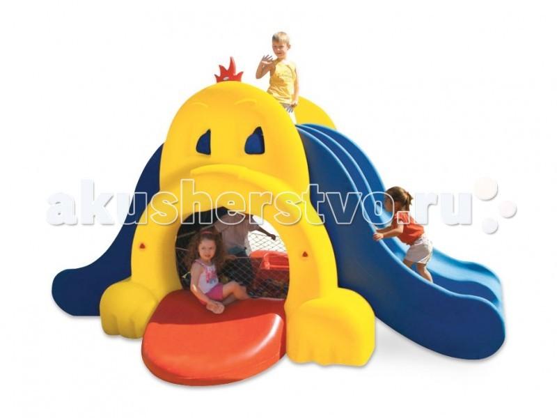 Xalingo Собака игровой комплексСобака игровой комплексИгровой комплекс Xalingo Собака станет настоящей радостью для детей, они будут проводить на во дворе с этим комплексом все своё свободное время.  Основные характеристики: - двухуровневый комплекс; - состоит из двух лесенок для подъема и двух горок для спуска; - внизу можно сделать бассейн с шариками (сетка для бассейна и шарики входят в комплект) - легко собирается в соответствии с прилагаемой инструкцией; - прослужит много лет;  Материал: прочный пластик Размеры: 230х390х290 см<br>