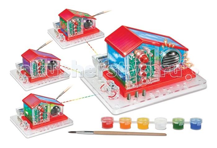 Amazing Научный опыт Радиодом с красками на батарейкахНаучный опыт Радиодом с красками на батарейкахAmazing Научный опыт Радиодом с красками на батарейках  Получи знания об электрических цепях. Уникальный приемник. Собери свой радиодом 3D, придумай свой дизайн и раскрась. В комплекте краски, батарейки.  В набор входят:  1 платформа 6 баночек с красками 1 кисточка 1 выключатель 1 отсек для батареек 3 пружины 1 радио 6 пластиковых деталей инструкция.   Для детей от 8 лет.<br>