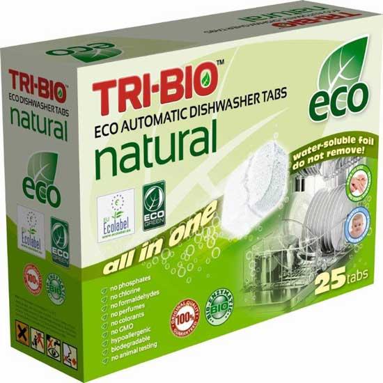 Tri-Bio Натуральные Эко таблетки для посудомоечных машин 25 таб.
