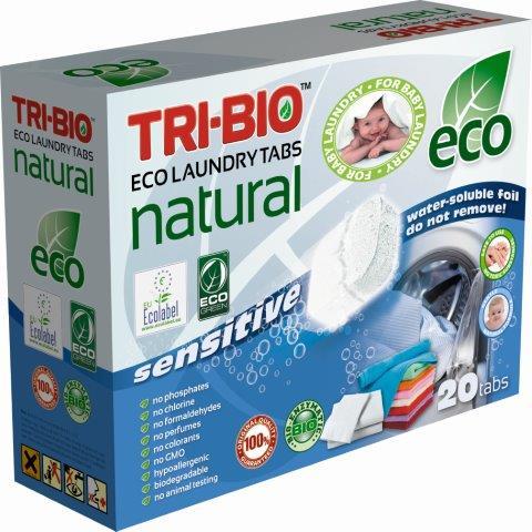 Моющие средства Tri-Bio Натуральные Эко таблетки для стирки 20 таб.