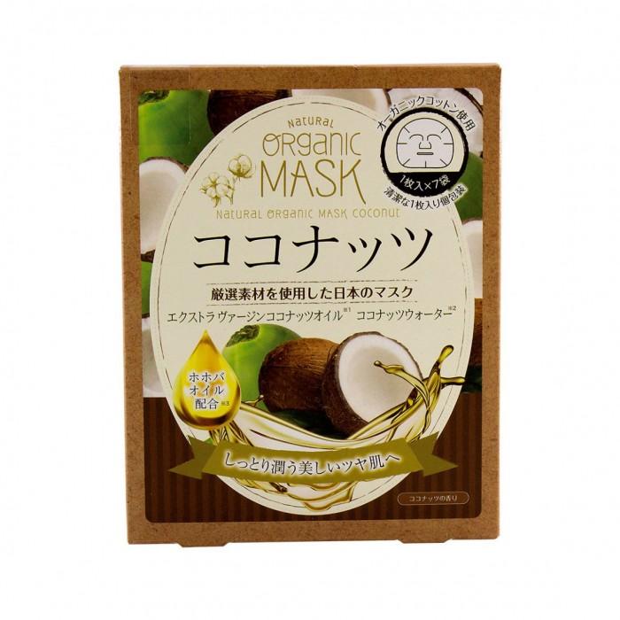 Japan Gals Маска для лица с экстрактом природных трав органическая 1 шт.
