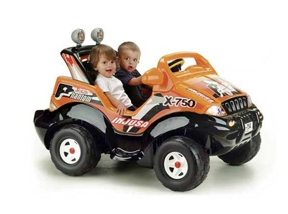 Электромобили Injusa Phantom Racer для двоих детей