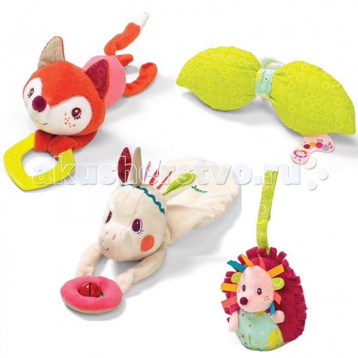Подвесная игрушка Lilliputiens Набор подвешивающихся игрушек-погремушек Единорожка Луиза