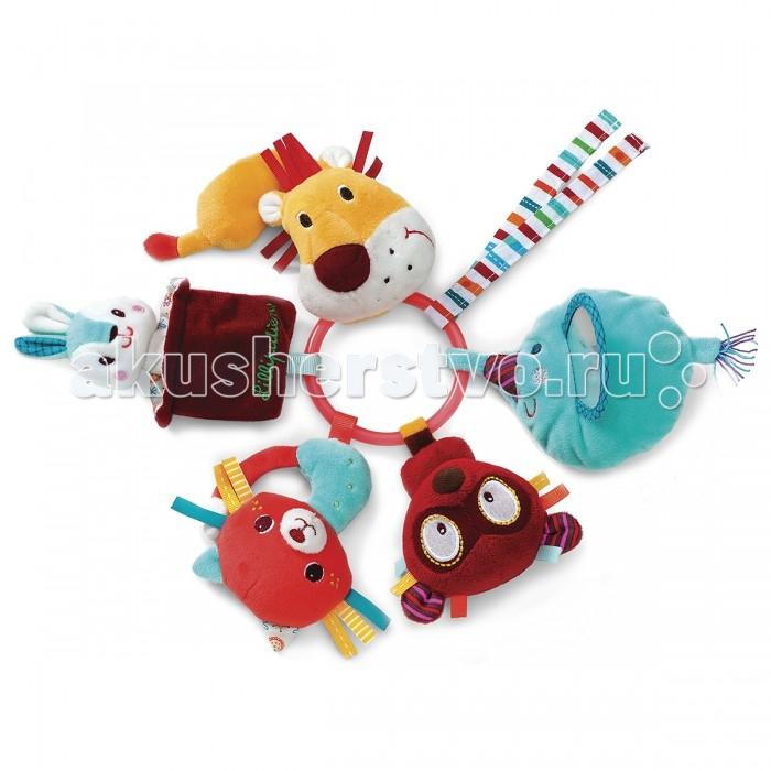 Погремушка Lilliputiens Цирк Шапито кольцо с мягкими игрушками