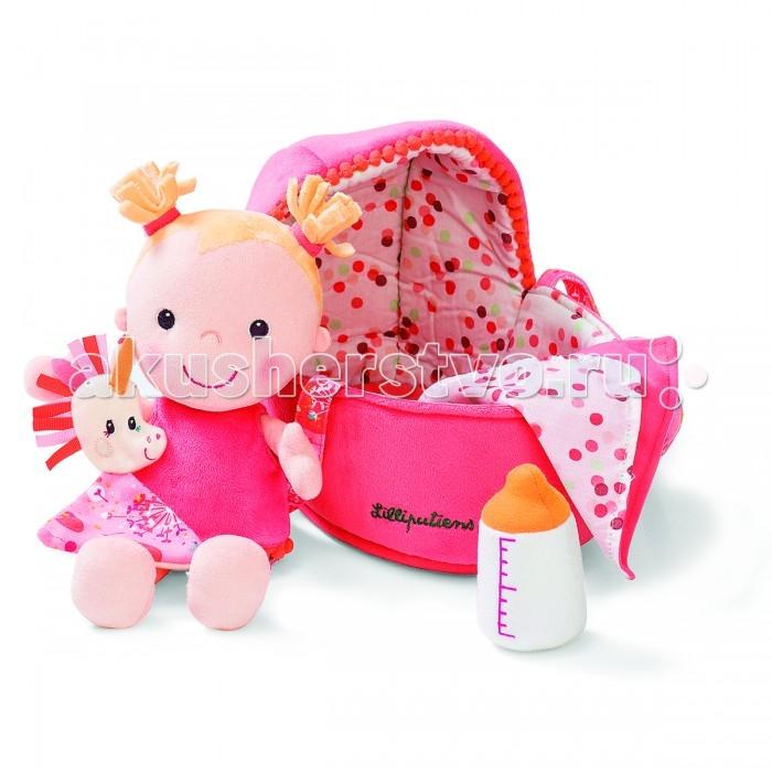 Lilliputiens Мягкая куколка в переноске с игрушкой