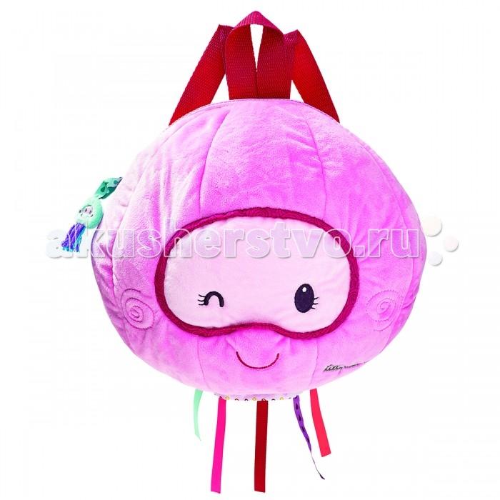 Lilliputiens Медузка Амели мягкий рюкзачокМедузка Амели мягкий рюкзачокМедузка Амели мягкий рюкзачок  Медузка Амели не просто рюкзачок, в который можно вместить много полезных вещей, но и мягкий друг.   Регулируемые лямки, безопасная и удобная молния, ярлычок для имени помогут тебе насладиться общением с ней.  Размеры:  24 x 30 x 18 см<br>