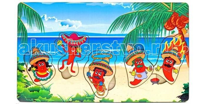 Деревянная игрушка Фабрика Мастер игрушек Рамка-вкладка Мексика