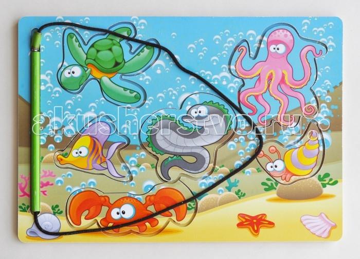 Деревянная игрушка Фабрика Мастер игрушек Рамка-вкладка Магнитная рыбалка 1