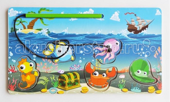 Деревянная игрушка Фабрика Мастер игрушек Рамка-вкладка Магнитная рыбалка 2Рамка-вкладка Магнитная рыбалка 2Развивающая игрушка «Магнитная рыбалка» познакомит ребенка с обитателями подводного мира, позволит развить ловкость, координацию и ориентацию на плоскости.   Вначале нужно показать ребенку, как играть с этой игрушкой. Для этого выньте вкладыш с помощью «удочки» и вставьте обратно, повторив действие несколько раз.   Можно показать, как Вы пробуете вставить фигурку то в одно, то в другое отверстие, пока не вставите в нужное.<br>