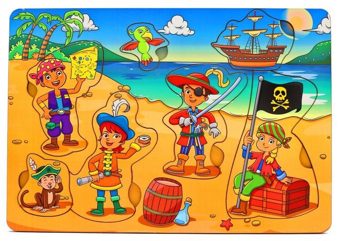 Деревянная игрушка Фабрика Мастер игрушек Рамка-вкладка Дети-пираты