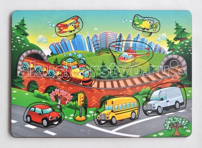 Деревянная игрушка Фабрика Мастер игрушек Рамка-вкладка Транспорт