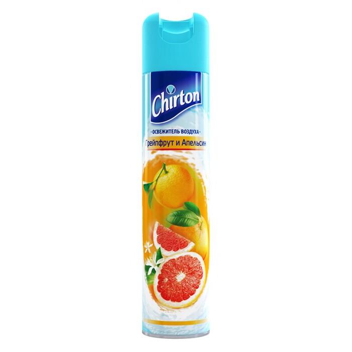 Chirton Освежитель воздуха Грейпфрут и Апельсин 300 млОсвежитель воздуха Грейпфрут и Апельсин 300 млОсвежитель воздуха Chirton Грейпфрут и Апельсин 300 мл придаст вещам свежий аромат.   Визитная карточка торговой марки Chirton - серия высококачественных аэрозольных освежителей воздуха на водной основе, которые легко устраняют неприятные запахи, надолго наполняя Ваш дом неповторимыми тонкими ароматами.  Их основные преимущества - натуральные компоненты и 19 ароматов на любой вкус.  Заслуженно занимают одно из лидирующих мест на Российской рынке.<br>
