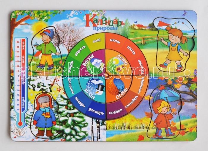 Деревянная игрушка Фабрика Мастер игрушек Рамка-вкладка Календарь природы