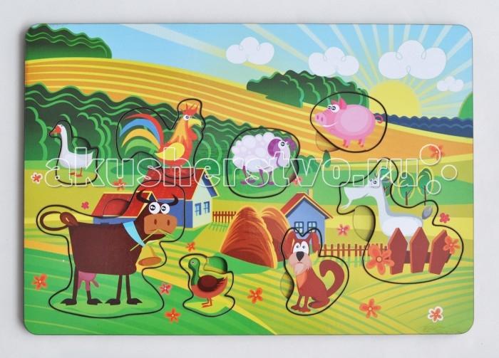 Деревянная игрушка Фабрика Мастер игрушек Рамка-вкладка Веселая ферма