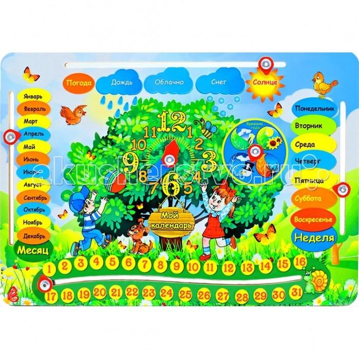 Деревянная игрушка Фабрика Мастер игрушек Обучающая доска Календарь