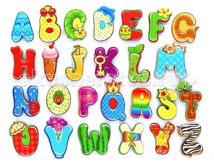 Деревянная игрушка Фабрика Мастер игрушек Алфавит английский ВеселыйАлфавит английский ВеселыйМагнитный алфавит «Веселый английский» познакомит ребенка с английскими буквами, а забавные картинки сделают обучение веселым и увлекательным. Благодаря магнитам, алфавит можно прикрепить к металлической доске или холодильнику.   Как играть с алфавитом: Вначале нужно показать ребенку, как играть с этой игрушкой. Для этого сами составьте буквы в правильном порядке и попросите малыша запомнить, где какая буква стоит.  Обязательно называйте буквы вслух, чтобы ребенок запоминал их названия. Затем попросите ребенка отвернуться или закрыть глаза и поменяйте буквы местами, а малыш, повернувшись, должен угадать, что изменилось и вернуть буквы на свои места.   Такая игра не только помогает выучить буквы, развивает внимательность и тренирует память.<br>