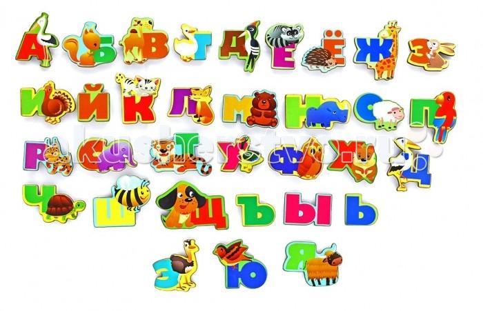 Деревянная игрушка Фабрика Мастер игрушек Алфавит  русский Животный мир