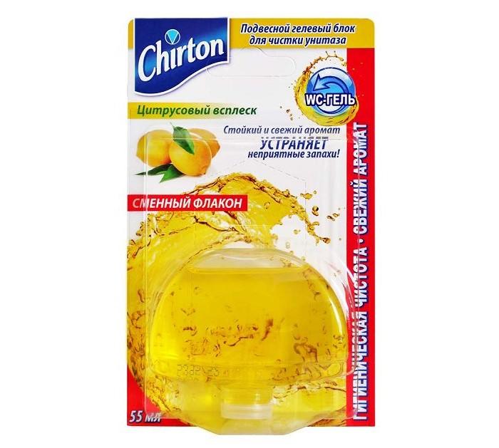 Chirton Подвесной гелевый блок для чистки унитаза Цитрусовый Всплеск 55 мл сменный