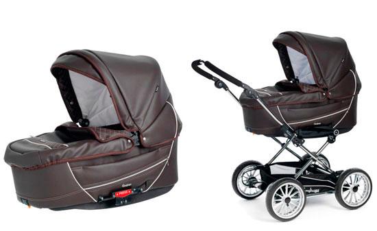 Детская коляска Emmaljunga Cangaroo + 2 люльки Korg (для двойни.