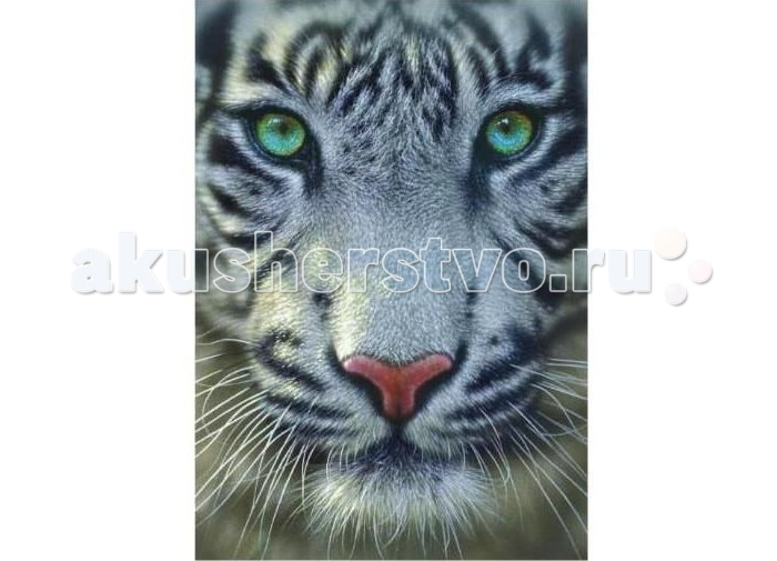 Educa Пазл Белый тигр 500 элементовПазл Белый тигр 500 элементовEduca Пазл Белый тигр 500 элементов 15971  Встретиться лицом к лицу с белым тигром? Нет ничего проще! Просто соберите эту картину из 500 элементов - и, как поется в известной песне, невозможное станет возможным и, к слову, без жертв!  А если серьезно, то в основе картины лежит очень удачная портретная фотография белого тигра, который пристально смотрит в объектив фотокамеры. Что скрывать: в его облике поражает всё - и неповторимая симметрия в окрасе, и нежно-болотный цвет глаз, и вибриссы, до которых хочется дотрагиваться снова и снова...  Соберите эту картину из 500 элементов - и она послужит хорошим украшением интерьера, поднимет вам настроение!  Размер собранного пазла: 48 х 34 см.<br>