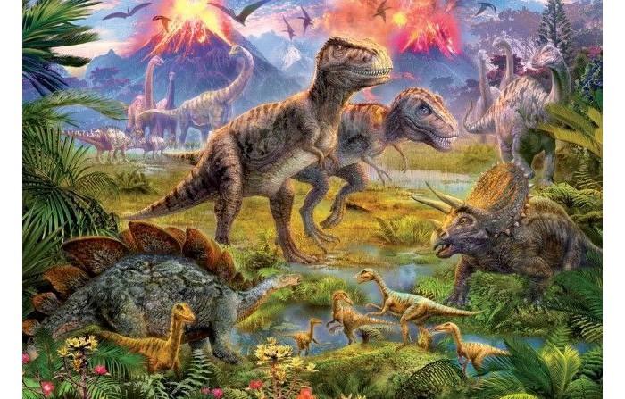 Educa Пазл Встреча динозавров 500 элементов