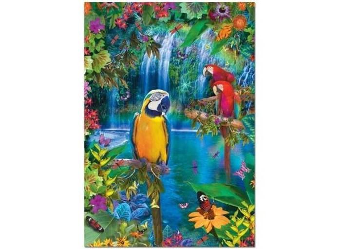 Educa Пазл Тропические птицы 500 элементовПазл Тропические птицы 500 элементовEduca Пазл Тропические птицы 500 элементов 15512  Пазл Тропические птицы, без сомнения, придется вам по душе. Собрав этот пазл, включающий в себя 500 элементов, вы получите великолепную цветную картину с изображением трех попугаев на фоне водопадов.  В комплект входит специальный клей, представляющий собой порошок, который перед применением требуется развести водой. Он надежно склеивает собранный пазл и не оставляет следов на поверхности картинки.   Пазл - прекрасное антистрессовое средство для взрослых и замечательная развивающая игра для детей.  Собирание пазла развивает у ребенка мелкую моторику рук, тренирует наблюдательность, логическое мышление, знакомит с окружающим миром, с цветом и разнообразными формами, учит усидчивости и терпению, аккуратности и вниманию. Собирание пазла - прекрасное времяпрепровождение для всей семьи.  Размер собранного пазла: 48 х 34 см.<br>