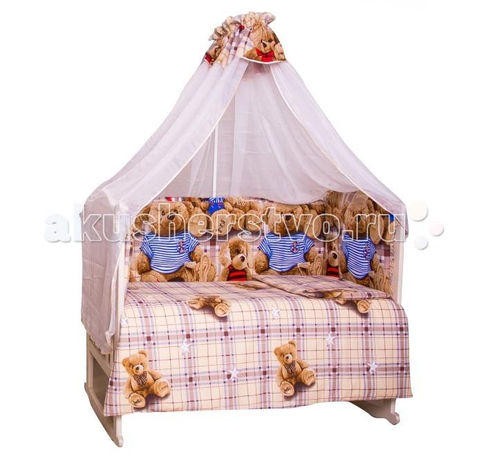 Комплект в кроватку Мой Ангелочек Топтыжки (7 предметов)