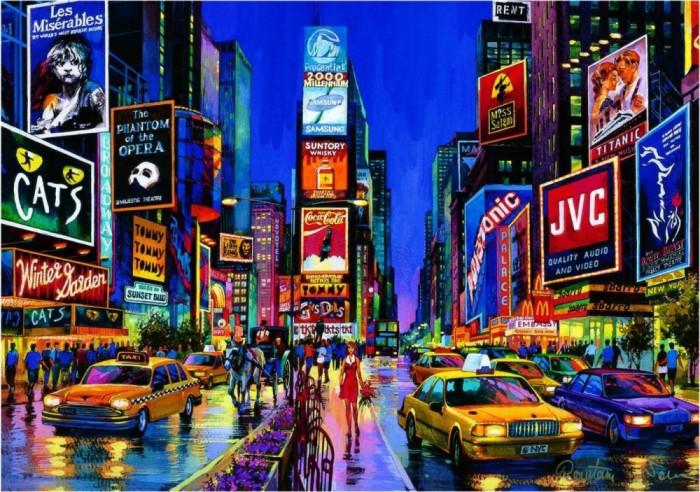 Educa Пазл Times Square Нью Йорк 1000 элементовПазл Times Square Нью Йорк 1000 элементовEduca Пазл Times Square Нью Йорк 1000 элементов 13047  Классический пазл с изображением красочной панорамы знаменитой нью-йоркской Таймс-сквер, способный светиться в темноте. В основу этой головоломки положен вид ночной улицы Times Square с ее магазинами, пешеходами и автомобилями. Собранный пазл с видом Times Square, оформленный в аккуратную рамку, будет великолепно смотреться ночью в тёмной комнате - все детали рисунка выполнены особой флюоресцентной краской, светящейся в темноте.  Размер собранного пазла: - 68 x 48 см.<br>