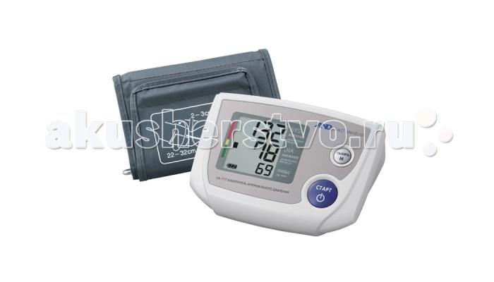 A&amp;D Тонометр автоматический UA-777ACТонометр автоматический UA-777ACA&D Тонометр UA-777AC автоматический.  Особенности: Тонометр предназначен для измерения и контроля артериального кровяного давления и пульса в плечевой артерии у взрослых.  При помощи автоматического прибора для измерения давления крови вы сможете быстро и без посторонней помощи в бытовых условиях провести измерение давления и пульса и сохранить данные, а так же вывести ранее сохраненные данные и средние значения.  Манжета SlimFit 22-32 см Память на 90 измерений Индикатор аритмии Шкала ВОЗ Сетевой адаптер Трехстрочный дисплей<br>