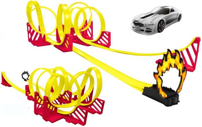 HTI Мегатрек Большие американские горки 2 авто 6 метровМегатрек Большие американские горки 2 авто 6 метровHTI Мегатрек Большие американские горки 2 авто 6 метров 1415722.00  Мегатрек «Большие американские горки» — это 6 метров умопомрачительных виражей, по которым с ревом проносится BMW. Вот машина делает крутой поворот, а вот описывает «мертвую петлю» — все это на огромной скорости. И в конце — эффектный прыжок с трамплина.  Вы можете собрать трассу любой сложности, есть много вариантов сборки.  В комплекте 2 инерционных машинки.  Размер машинок — 7,5х3 см.  Длина трассы — 6,3 м.<br>