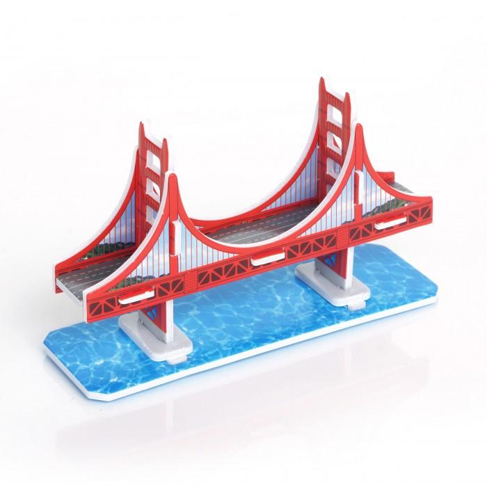 Конструктор IQ 3D пазл Мост Золотые Ворота3D пазл Мост Золотые ВоротаIQ Игрушка 3D пазл Мост Золотые Ворота IQMA014  Пазл IQ 3D PUZZLE «Мост Золотые Ворота» из пенокартона будет замечательным подарком для каждого ребенка!  Серия 3D пазлов «Шедевры мировой архитектуры» позволит малышам познакомиться с самыми интересными сооружениями планеты. Мост Золотые Ворота — висячий мост через пролив Золотые Ворота в Сан-Франциско. Был самым большим висячим мостом в мире с момента открытия в 1937 году и до 1964 года. Общая длина моста — почти 3 км, высота проезжей части над поверхностью воды - 67 м.  Уровень сложности: 1. Количество деталей: 10. Размер собранного пазла: 9,1&#215;2,8&#215;5,6 см.<br>