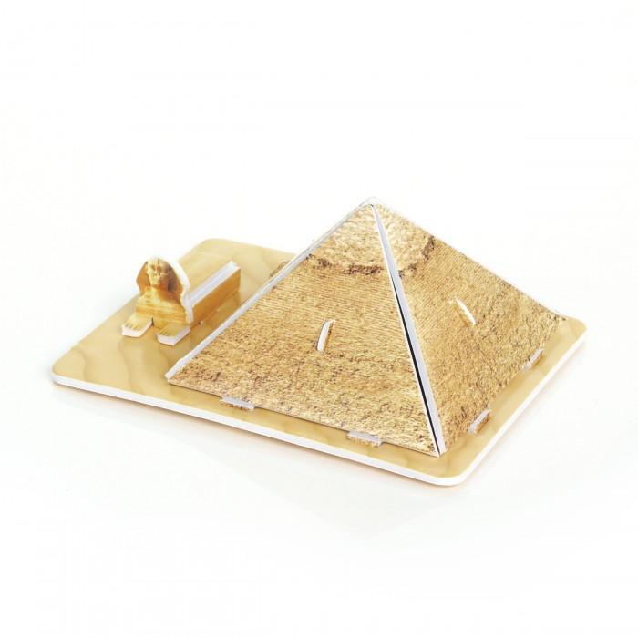 Конструктор IQ 3D пазл Пирамида Хеопса3D пазл Пирамида ХеопсаIQ Игрушка 3D пазл Пирамида Хеопса IQMA012  Пазл IQ 3D PUZZLE «Пирамида Хеопса» из пенокартона будет замечательным подарком для каждого ребенка!  Серия 3D пазлов «Шедевры мировой архитектуры» позволит малышам познакомиться с самыми интересными сооружениями планеты. Пирамида Хеопса - крупнейшая из египетских пирамид, единственное из чудем света, сохранившихся до наших дней. Ее высота почти 140 метров, а длина стороны основания - 230 м. Предполагается, что строительство, продолжавшееся 20 лет, закончилось около 2540 г. до н.э. Пирамиды строились как гробницы фараонов Древнего Египта.  Уровень сложности: 1. Количество деталей: 9. Размер собранного пазла: 8,5&#215;6,6&#215;4 см.<br>