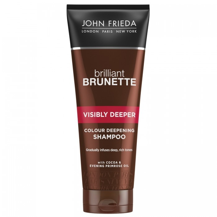 John Frieda Brilliant Brunette Шампунь для придания насыщенного оттенка темных волос Visibly Deeper 250 мл