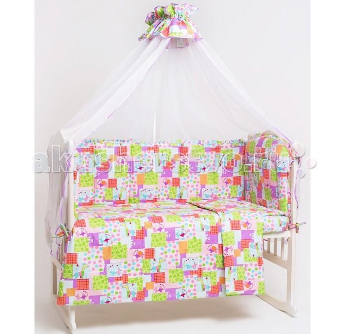 Комплект для кроватки Мой Ангелочек Зоо (7 предметов)