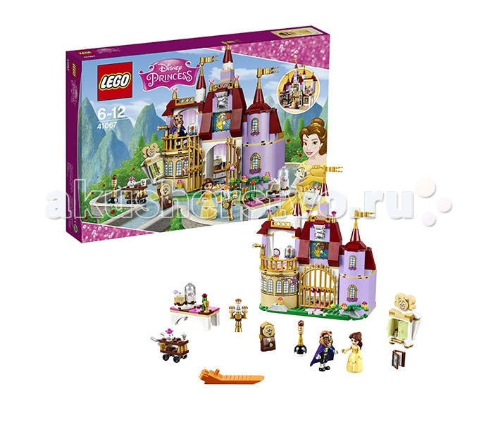 Конструктор Lego Disney Princesses 41067 Лего Принцессы Дисней Заколдованный замок БелльDisney Princesses 41067 Лего Принцессы Дисней Заколдованный замок БелльLego Disney Princesses 41067 Лего Принцессы Дисней Заколдованный замок Белль 374 деталей  Лего Принцессы Дисней Заколдованный замок Белль - отличный выбор для девочки. Он состоит из 374 деталей и включает две минифигурки главных персонажей сказки Красавица и чудовище  Основные функции и элементы: Вращающийся подиум для танцев Возможность танцевать за столом Вращающаяся деталь с портретом Принца и маской Чудовища Маска Чудовища Волшебная роза Книжная полка с раскрывающимися книжками Персонажи мультфильма - Люмьер, Когсворт, Мадам Потс и Чип, Фифи, Печь, Шкаф.  Количество деталей: 374 Рекомендуемый возраст: 6-12 лет<br>